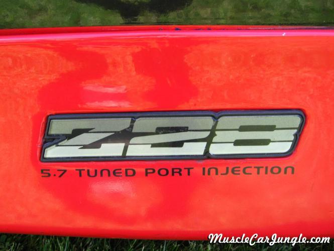 1986 Camaro Iroc Z 28 Emblem