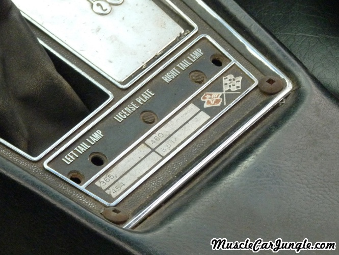 1968 Corvette Convertible Custom Dash Plate