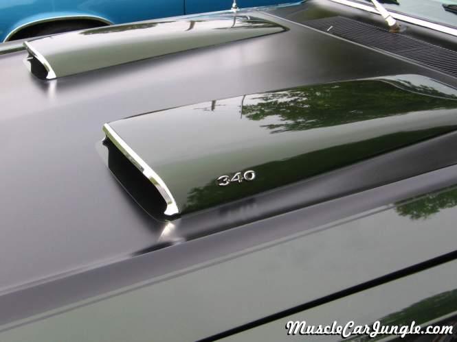 1971 Dart Swinger 340 Hood Scoops