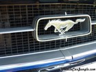 1967 Ford Mustang Notchback Grill Emblem